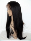 Glueless lace wigs for black women human hair yaki straight 20 inch #2