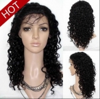 Remy human hair on sale full lace wigs deep wave