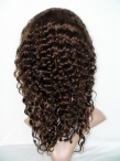 Indian remy human hair full lace wigs deep wave