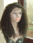 Indian remy full lace wigs stock curly human hair lace wigs