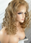 Cheap stock lace wigs curly human hair full lace wigs