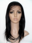 Remy indian lace front wigs human hair silky straight