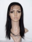 Remy human hair for cheap lace front wigs silky straight