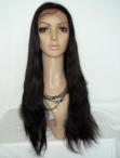 Indian remy human hair wigs silky straight full lace wigs