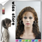 Silk top glueless full lace wigs indian remy human hair curly