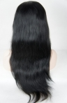 Silk top full lace wigs sales indian remy hair natural straight 20 inch color #1