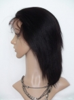 Human lace wigs for cheap indian remy hair silky straight