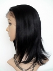 Discount lace wigs black women indian remy human hair silky straight