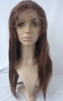 Human hair front lace wigs for black women silky straight in stock