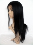 Full lace yaki straight wigs indian remy human hair