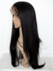 Remy human hair lace front wigs for black women yaki straight