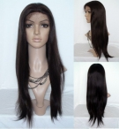 Human hair half wigs black women silky straight lace front wigs