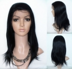 Human hair half wigs for african american women silky straight lace front wigs
