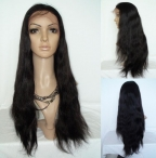 Half wig human hair silky straight for white women