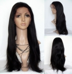Remy full lace wigs with baby hair for black women yaki straight