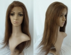 Human hair half lace front wigs silky straight lace wigs