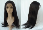 White girl lace front wig silky straight human hair lace wigs