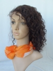 Curly lace front with silk top wigs for black women indian remy human hair