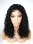 Human hair lace front wigs white women indian remy hair deep wave