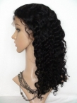 Lace front human hair wigs african american women indian remy hair deep wave
