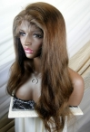 Yaki glueless lace wigs indian remy human hair