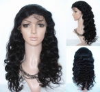 Body wave hair full lace wigs indian remy human hair