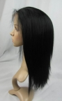 Glueless full lace wigs wholesale indian remy human hair yaki straight