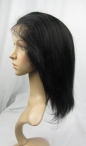 Glueless lace wigs cheap indian remy hair yaki syraight