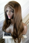 Glueless full lace wigs with baby hair indian remy human hair yaki straight