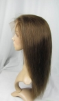 Silky straight hair full lace wigs indian remy human hair