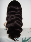 Remy full lace wigs baby hair body wave indian human hair