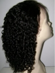 Lace front wigs curly indian remy human hair