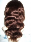 Full lace indian remy wigs baby hair body wave swiss lace cap