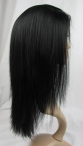 Glueless remy lace front wigs indian human hair silky straight