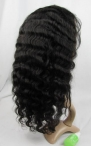 Affordable glueless lace wigs indian remy human hair deep wave