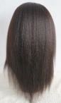 Silk top glueless wigs Italian yaki full lace wigs for black women 14 inch #1b