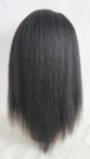 Human hair glueless silk top full lace wig italian yaki 14 inch #1