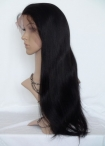 Best lace wigs for white women indian remy human hair silky straight 22 inch #1