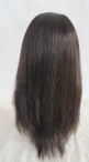 Silk top full lace wigs stock natural straight indian remy hair 16 inch #1b
