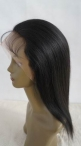 Natural hair wigs for women silk top lace wigs indian remy human hair 12 inch #1