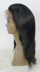 Glueless lace wigs in stock natural straight indian remy hair 16 inch #1