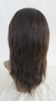 Natural looking wigs silk top lace wigs indian remy human hair 12 inch #1b