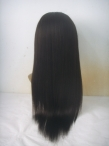 Cheapest indian remy hair coarse yaki silk top lace wigs 20 inch #1b