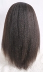 Buy wigs cheap silk top full lace wigs italian yaki indian remy hair 16 inch #1b