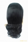 Full lace with silk top wigs indian remy hair body wave 16 inch #1