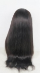 Best lace wigs glueless silk top indian remy hair natural straight 22 inch #1b