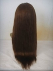 Invisible hairline lace front wigs natural straight indian remy hair 18 inch #4