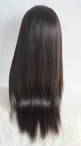 Wholesale wigs for african americans chinese virgin silk top full lace wigs coarse yaki 22 inch