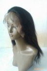 Lace front wigs black women natural sraight indian remy human hair