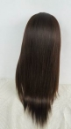 Lace front wigs glueless Chinese virgin hair yaki silk top cap wigs